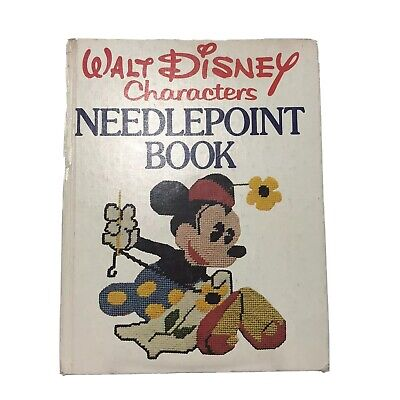 Walt Disney Characters Needlepoint Book 1st Edition 1976 Hardcover Vintage