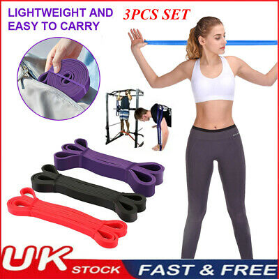 Heavy Duty Resistance Bands Assisted Pull Up Band Set Fitness Exercise Loop Tube