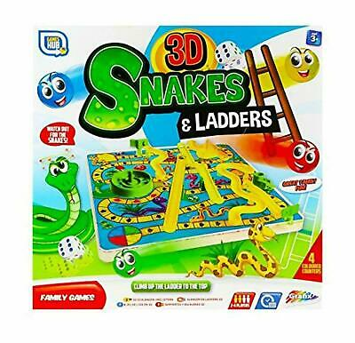 3D Ludo Snakes and Ladders Board Game For Kids Adult Traditional Family Fun Toy
