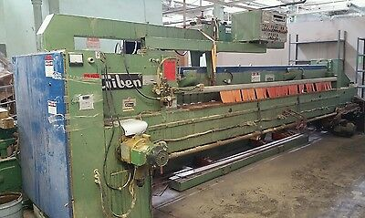 Giben Saw Type 74 SP Bottom Cut Plywood Saw with 19' Feed Table