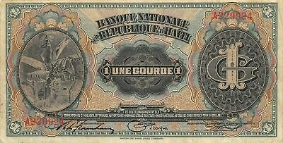 Haiti  1  Gourde  ND. 1920  P 150  Series  A  Circulated Banknote H10