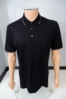 Ermenegildo Zegna Mens Polo T Shirt, Size 52 Large, Black, VGC