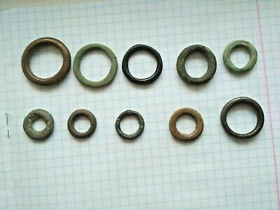 "Very rare !!! 10 Ancient Celtic Proto Money Bronze Rings ""Coins"" Circa 400 BC"