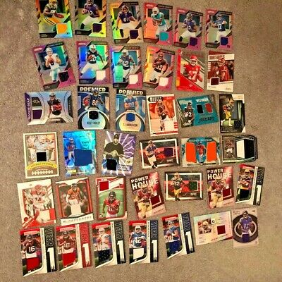 NFL  5 Hits autograph & jersey, Plus rookies & superstars, Lot of 25 cards