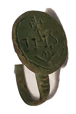 Ancient Or Medieval Brass Ring European Artifact Antique