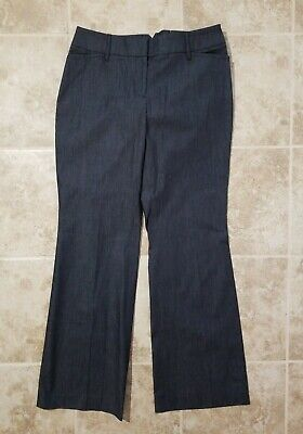 NWT Women's ANN TAYLOR LOFT Black JULIE / CURVY Flare Stretch PANTS ~ Size  8