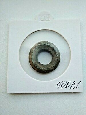 "Very rare !!! Ancient Celtic Proto Money Bronze Rings ""Coins"" Circa 400 BC"