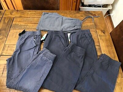Boys Skinny Cuffed Chino Jean Grey Pants 3 Pairs Size 12 Brand New with Tags