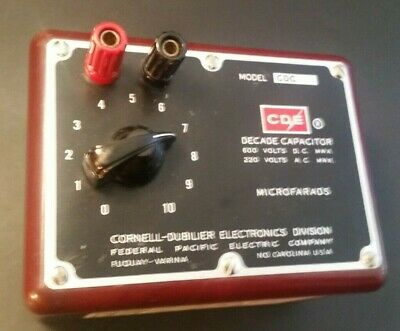 Cornell-Dublier Cdc3 Vtg Decade Capacitor Box Untested