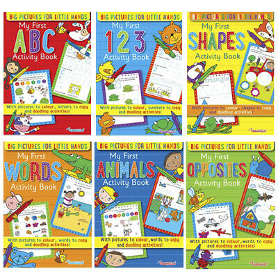 Learning Books Kids Educational Pre School Reception Age 3-5 Colouring Book