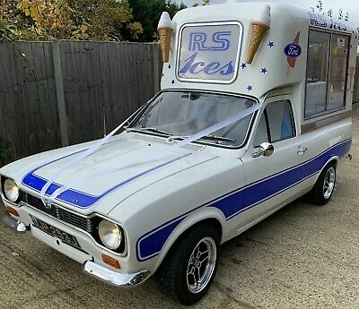 Superb MK1 Ford Escort 1600 Crossflow Classic Ice Cream Van  (food van)
