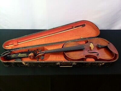 Historical Georg Kloz Mittenwald Violin 1777 with Bow and Antique G&B Coffin