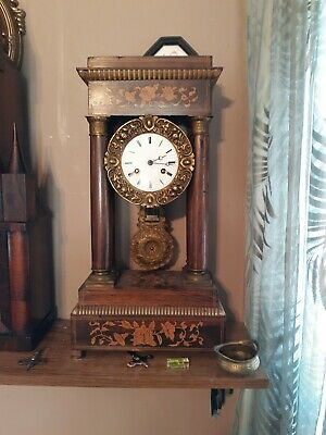 Antique C-1850 Japy Freres French  Portico Clock