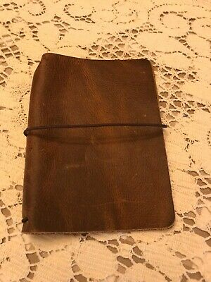 Chic Sparrow Waypoint Caramel Passport Size Travelers Notebook