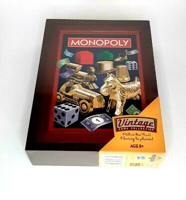 New MONOPOLY 2019 Vintage Game Collection Library Bookshelf Wooden Box SEALED
