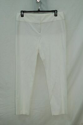 Alfani Womens Slim Straight Leg Dress Pants White 16
