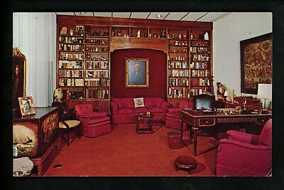 Florida FL postcard Fort Myers, Thomas Edison Estate interior chrome