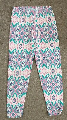 Girls Pink Patterned Leggings Age 10-11 Years