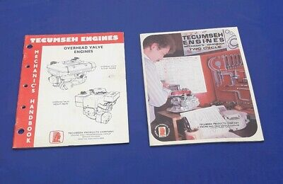 2 - Tecumseh Engines Mechanic's Handbooks, Overhead Valve & Two Cycle Engines
