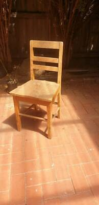 Solid wooden chair from the 60's