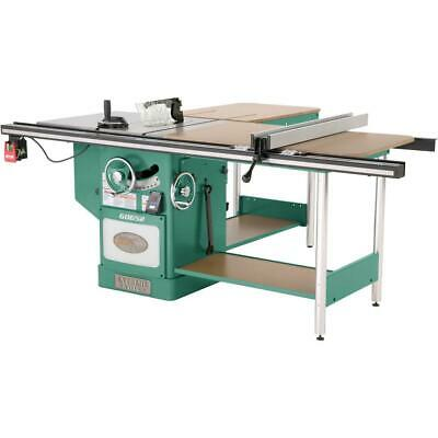 "Grizzly G0652 10"" 5 HP 3-Phase Heavy-Duty Cabinet Table Saw with Riving Knife"