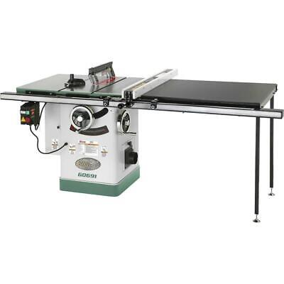 "Grizzly G0691 10"" 3HP 220V Cabinet Table Saw with Long Rails & Riving Knife"