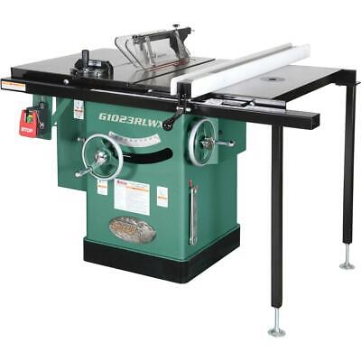 "Grizzly G1023RLWX 10"" 5 HP 240V Cabinet Table Saw with Built-in Router Table"