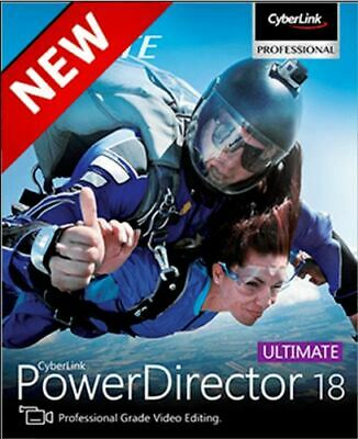 🔥 CyberLink PowerDirector Ultimate 18 Lifetime FULL Version ✅ Fast Delivery ✅