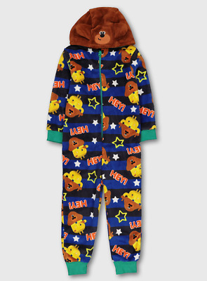 Official Hey Duggee Boys Deluxe Fleece Hooded Onesie 2-3 Years NEW