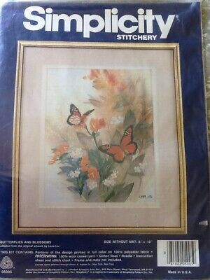 Simplicity Stitchery Embroidery Kit ' Butterflies And Blossoms'