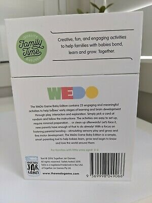 The WeDo Game Activity Cards - Baby Edition  *as new* (Melb pick-up)