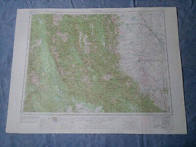US Geological Survey Topography Map1955-Quadrangle Choteau, Montana