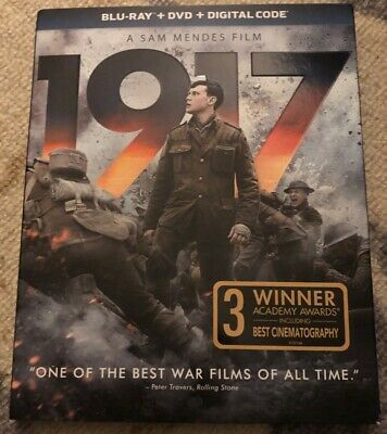 1917 Blu-ray/DVD W/ Slipcover Never Watched No Digital Free US Shipping