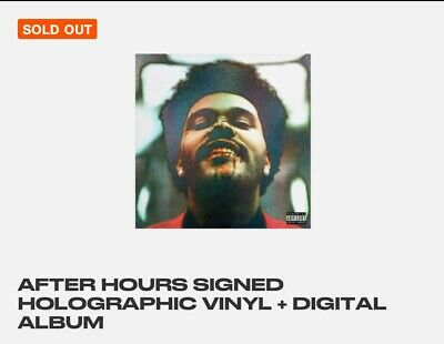 AUTOGRAPHED Holographic The Weeknd After Hours Vinyl LP *SOLD OUT*