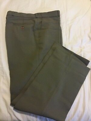 Vintage St Michael Men's Trousers/Pants Olive Size 86cm/34""