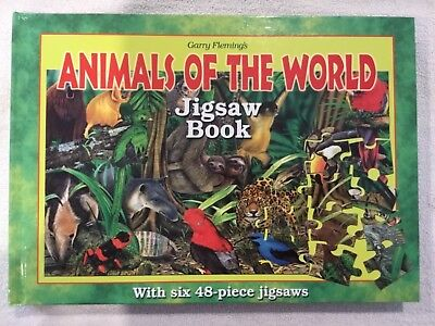 Garry Flemming's Animals of the World Jigsaw Puzzle Book