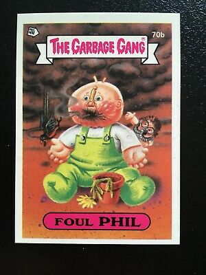 The GARBAGE GANG series 2 card 70B FOUL PHIL * Aust series * Ex Condition
