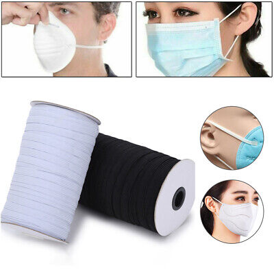 100 Yards Braided Elastic Band Cord Stretch Rope Sewing Mouth Masks DIY Craft