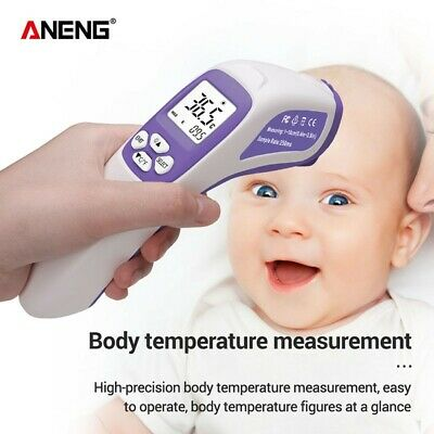Body Thermometer Medical Body Infrared Accurate Ear Forehead LCD Digital Measure