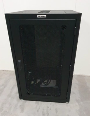 Ultimate Portable Black Box 24U Server Comms Cabinet Rack Mounted Road Case PDU
