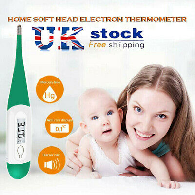 NEW Digital LCD Medical Thermometer Mouth Underarm Baby Body Temperature Aid UK