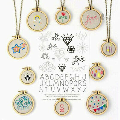 1Set Mini Wooden Cross Stitch Hoop Ring Embroidery Circle Sewing Kit Frame Cr IO