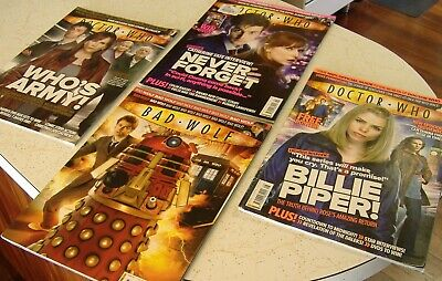 Doctor Who Magazine x4 Dr Who Time Lord Old School Cool Guy Police Box Tardis
