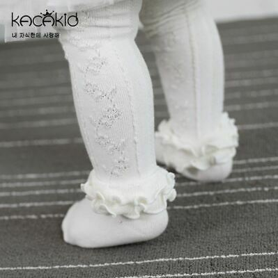 Baby Girl Pantyhose Tights Toddler Lace Ruffle Frilly Stockings Tights  1-5Y