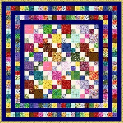 """HIGELTY PIGELTY - 53"""" - Pre-cut Patchwork Quilt Kit by Quilt-Addicts Lap"""