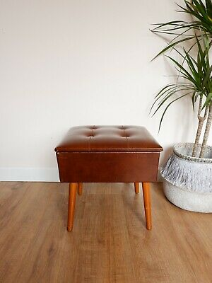 Vintage retro Sherbourne Sewing Stool / Footstool 1960s 1970s