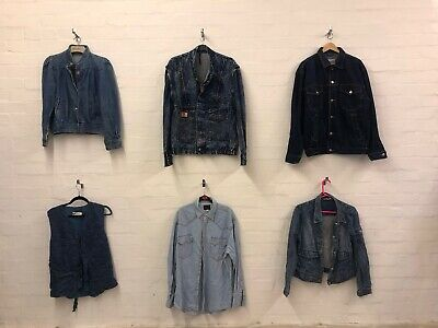 Wholesale Joblot Vintage Denim Jackets Shirts Gilet Mix X18 / A&B Grade