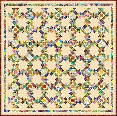 """DELIGHTFUL - 97"""" - Quilt-Addicts Pre-cut Patchwork Quilt Kit King"""