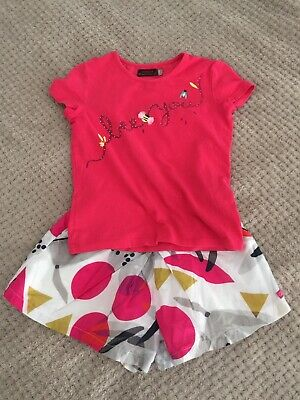 Catimini Outfit Top And Shorts Size 5 Years Great Condition