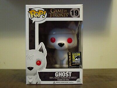 FUNKO Pop! Game of Thrones Flocked GHOST #19 SDCC 2014 Official Exclusive RARE